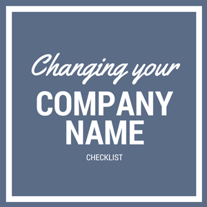How to change your company name